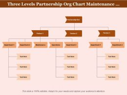 Three Levels Partnership Org Chart Maintenance Operations Departments