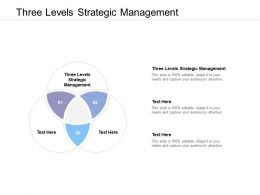 Three Levels Strategic Management Ppt Powerpoint Presentation Ideas Designs Cpb