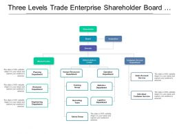 Three Levels Trade Enterprise Shareholder Board Director Org Chart