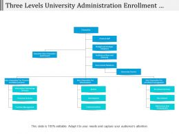 Three Levels University Administration Enrollment Services Org Chart