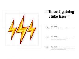 Three Lightning Strike Icon