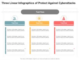 Three Linear Infographics For Protect Against Cyberattacks Infographic Template