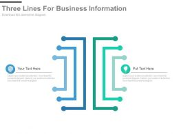 Three Lines For Business Information Representation Powerpoint Slides