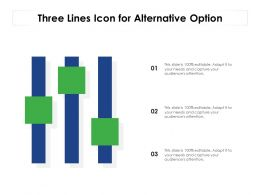 Three Lines Icon For Alternative Option