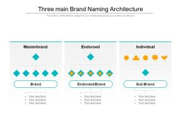 Three Main Brand Naming Architecture