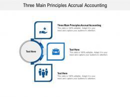 Three Main Principles Accrual Accounting Ppt Powerpoint Presentation Portfolio Design Templates Cpb