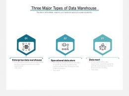 Three Major Types Of Data Warehouse