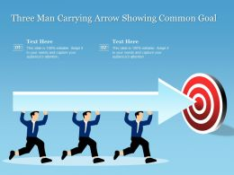 Three Man Carrying Arrow Showing Common Goal