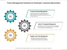 Three Management Solutions To Eliminate Customer Backorders