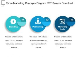 Three Marketing Concepts Diagram Ppt Sample Download