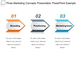 Three Marketing Concepts Presentation Powerpoint Example