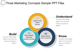Three Marketing Concepts Sample Ppt Files