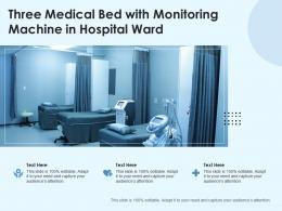Three Medical Bed With Monitoring Machine In Hospital Ward