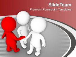 Three Men Forming Business Unity Leadership PowerPoint Templates PPT Themes And Graphics 0213