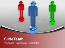 Three Men Forms Social Network Communication PowerPoint Templates PPT Themes And Graphics 0213