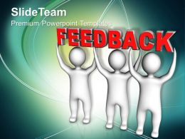 three_men_join_forces_to_lift_the_words_feedback_powerpoint_templates_ppt_themes_and_graphics_0113_Slide01