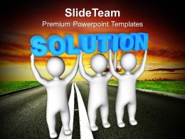 Three Men Lifts Solution Teamwork Powerpoint Templates Ppt Themes And Graphics