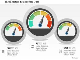 three_meters_to_compare_data_flat_powerpoint_design_Slide01