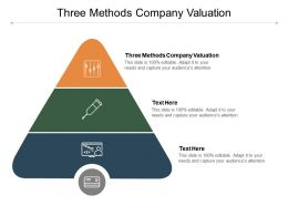 Three Methods Company Valuation Ppt Powerpoint Presentation Outline Gallery Cpb