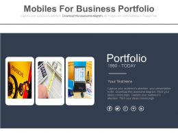 Three Mobiles For Business Portfolio Flat Powerpoint Design