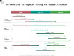 Three Month Data Hub Integration Roadmap With Process Orchestration