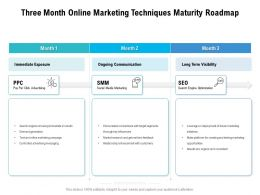 Three Month Online Marketing Techniques Maturity Roadmap