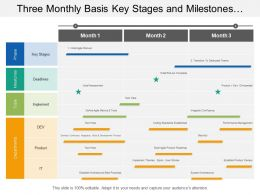 Three Monthly Basis Key Stages And Milestones Agile Transformation Timeline