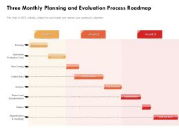 Three Monthly Planning And Evaluation Process Roadmap