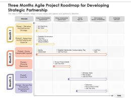 Three Months Agile Project Roadmap For Developing Strategic Partnership