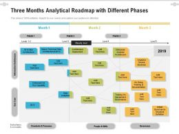Three Months Analytical Roadmap With Different Phases
