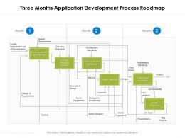 Three Months Application Development Process Roadmap