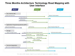 Three Months Architecture Technology Road Mapping With User Interface