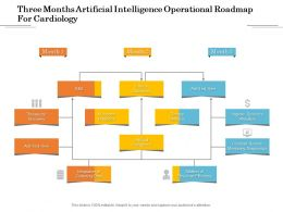 Three Months Artificial Intelligence Operational Roadmap For Cardiology
