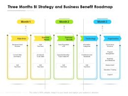 Three Months BI Strategy And Business Benefit Roadmap