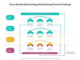 Three Months Biotechnology Manufacturing Process Roadmap