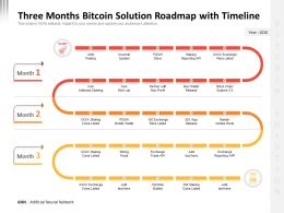 Three Months Bitcoin Solution Roadmap With Timeline