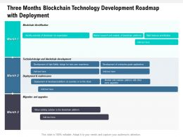 Three Months Blockchain Technology Development Roadmap With Deployment