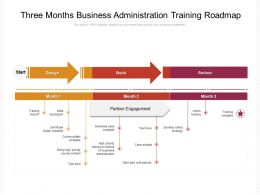 Three Months Business Administration Training Roadmap