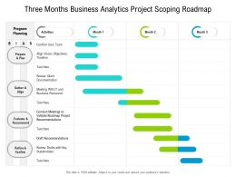 Three Months Business Analytics Project Scoping Roadmap