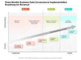 Three Months Business Data Governance Implementation Roadmap For Revenue