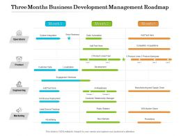 Three Months Business Development Management Roadmap