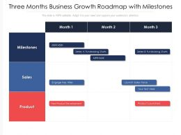 Three Months Business Growth Roadmap With Milestones
