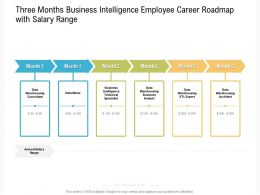 Three Months Business Intelligence Employee Career Roadmap With Salary Range