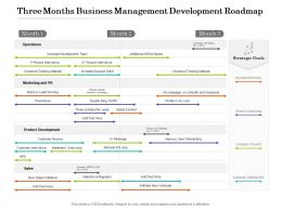 Three Months Business Management Development Roadmap