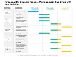 Three Months Business Process Management Roadmap With Key Activities