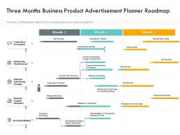 Three Months Business Product Advertisement Planner Roadmap