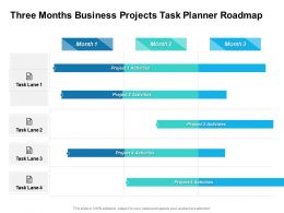 Three Months Business Projects Task Planner Roadmap