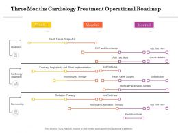 Three Months Cardiology Treatment Operational Roadmap