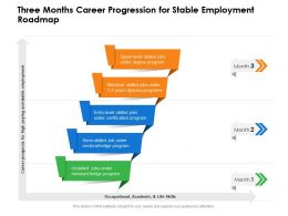 Three Months Career Progression For Stable Employment Roadmap