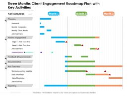Three Months Client Engagement Roadmap Plan With Key Activities